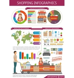 Shopping infographics template vector