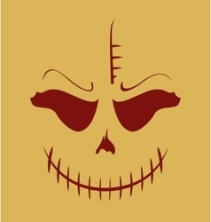 Skull with evil laugh vector