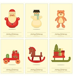 New Year Mini Posters Collection vector image