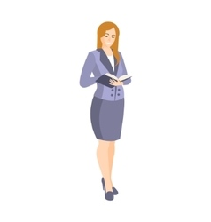 Woman in classic suit ith skirt part of the vector
