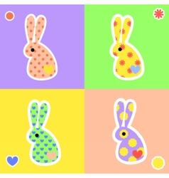rabbit4 vector image