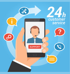 Customer service concepttechnical support call vector