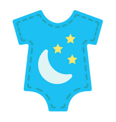 Baby romper flat icon baby clothes and kid vector