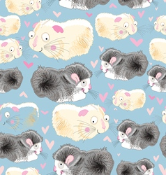 texture hamsters lovers vector image