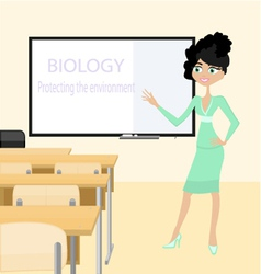 Teacher of biology vector