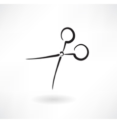 Scissors grunge icon vector