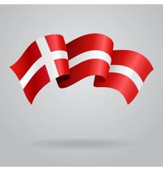 Danish waving flag vector