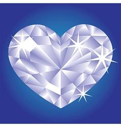 Diamond card hearts vector