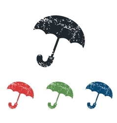 Umbrella grunge icon set vector