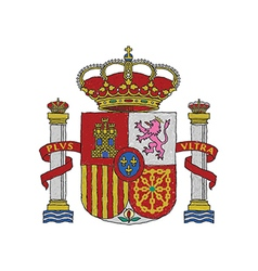 Hand drawn of spain coat of arms vector