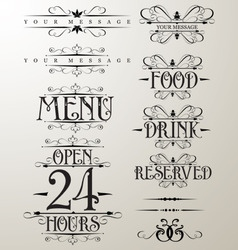 Decorative text design element vector