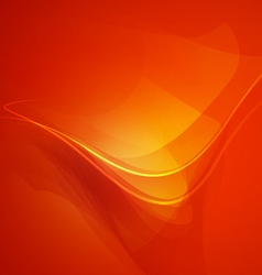 Abstract shape orange background vector