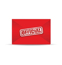 Official red closed envelope vector