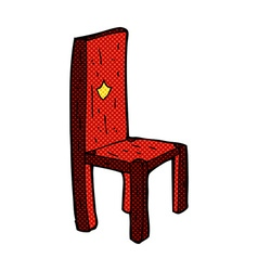 Comic cartoon old chair vector