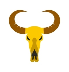 Buffalo skull icon vector
