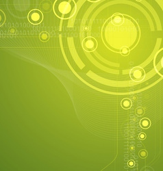 Green tech abstract background vector