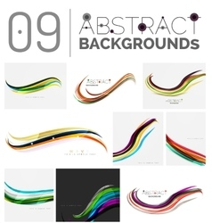 Set of smooth elegant identity waves vector