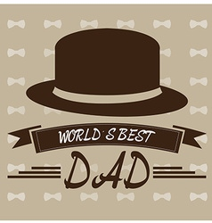 Fathers day design elements vector