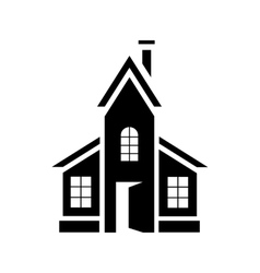 Abstract modern house icon simple style vector image vector image