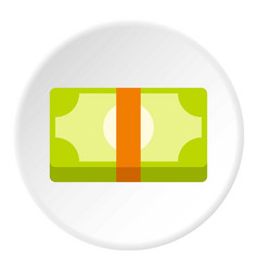 Bundle of money icon flat style vector