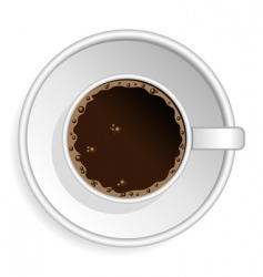coffee espresso cup vector image vector image