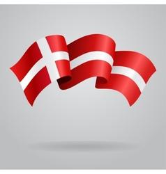 Danish waving Flag vector image