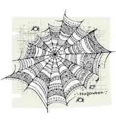 Halloween spider web background vector