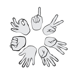 hand sign vector image vector image