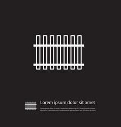 Isolated defense icon wooden barrier vector