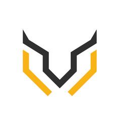 letter w rusa logo vector image