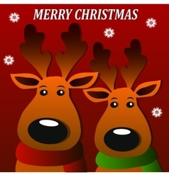 merry christmass deers vector image