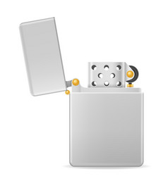 metal gasoline lighter vector image