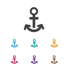 Of shipment symbol on anchor vector