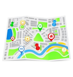 paper map vector image