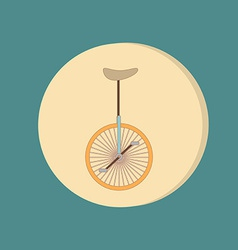 retro bicycle icon Symbol of transport Icon of a vector image vector image