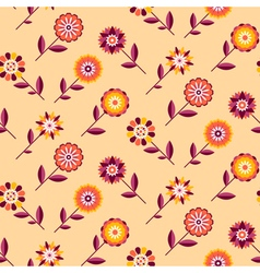 Seamless retro pattern of different colored summer vector image vector image