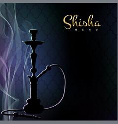 Shisha menu poster vector