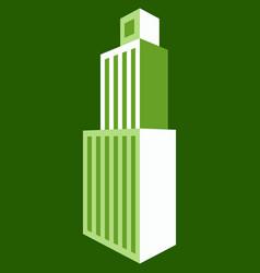 Skyscraper icon flat of skyscraper icon logo vector