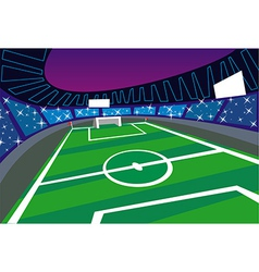 Soccer stadium perspective vector