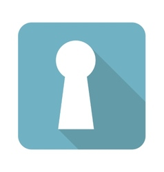 Square keyhole icon vector