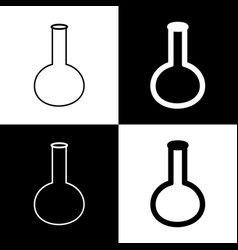 Tube laboratory glass sign black and vector