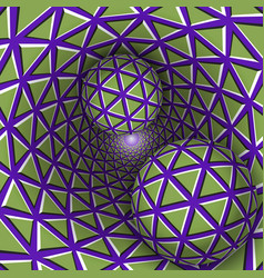 visual two balls are moving on vector image vector image