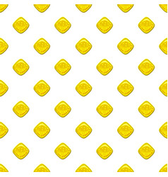yellow candie pattern vector image vector image