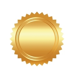 Seal stamp gold luxury elegant con vector