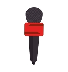 Microphone news journalist vector