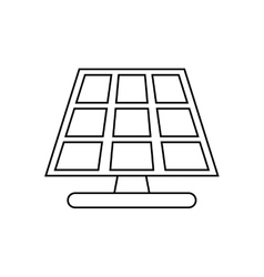Isolated eco solar panel design vector