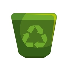 Recycle waste with arrows vector