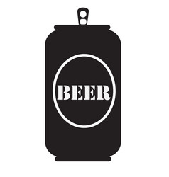 Beer can icon beer can icon on white background vector