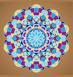 Multicolored mandala vector