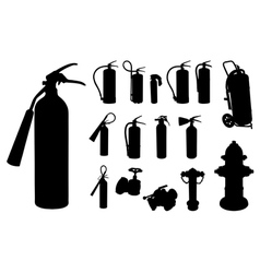 Fire extinguisher silhouette vector